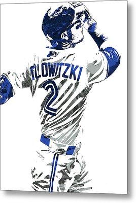 Troy Tulowitzki Toronto Blue Jays Pixel Art 2 Metal Print