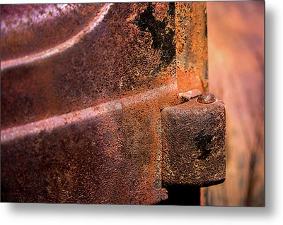 Truck Door Hinge Metal Print by Onyonet  Photo Studios