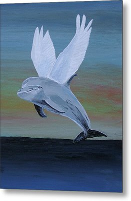 Metal Print featuring the painting True Angel 3 by Eric Kempson