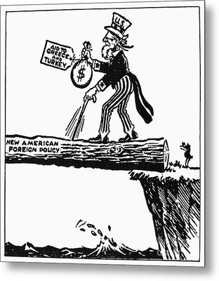 Truman Doctrine Cartoon Metal Print by Granger