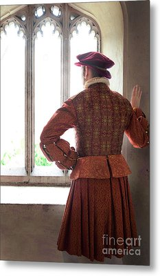 Metal Print featuring the photograph Tudor Man At The Window by Lee Avison