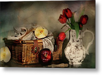 Basket And All Metal Print by Diana Angstadt