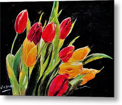 Tulips Colors Metal Print by Khalid Saeed