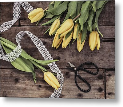 Metal Print featuring the photograph Tulips Of Spring by Kim Hojnacki