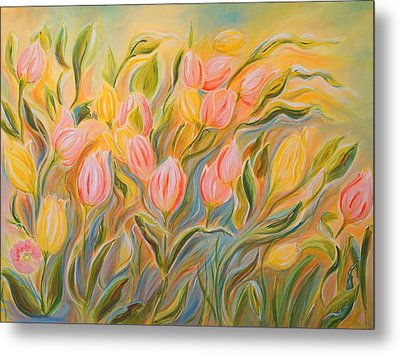 Tulips Metal Print by Theresa Marie Johnson