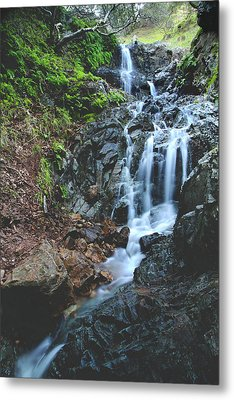 Metal Print featuring the photograph Tumbling Down by Laurie Search