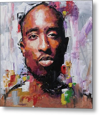 Tupac Metal Print by Richard Day