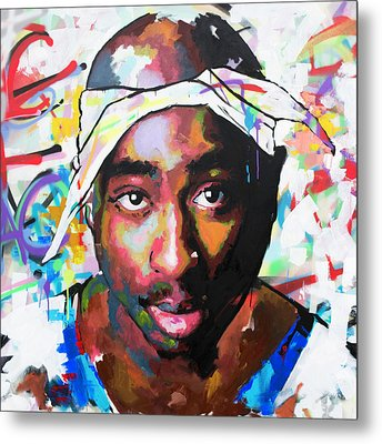 Tupac Shakur II Metal Print by Richard Day