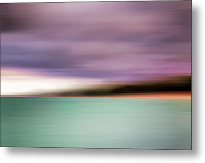 Metal Print featuring the photograph Turquoise Waters Blurred Abstract by Adam Romanowicz