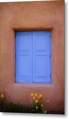 Metal Print featuring the photograph Turquoise And Adobe by Heidi Hermes