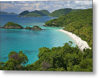 Turquoise Water At Trunk Bay, St. John Metal Print by Michael Melford