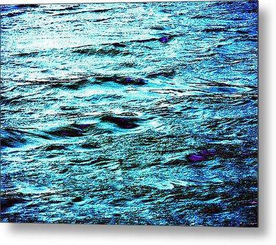 Turquoise Water Metal Print by Beth Akerman