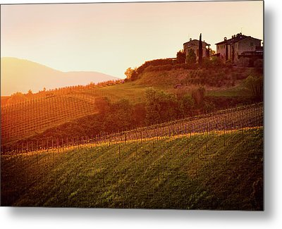 Tuscan Dream Metal Print by John and Tina Reid