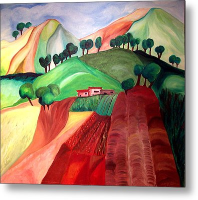 Metal Print featuring the painting Tuscan Landscape by Patricia Arroyo