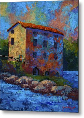 Tuscan Mill Metal Print by Marion Rose