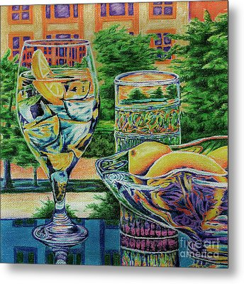 Tuscan Summer Lemonade  Metal Print