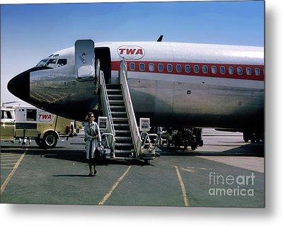 Twa Boeing 707, August 1965 Metal Print by Wernher Krutein