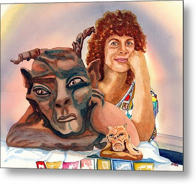 T'was Beauty Made The Beast Metal Print by Gerald Carpenter