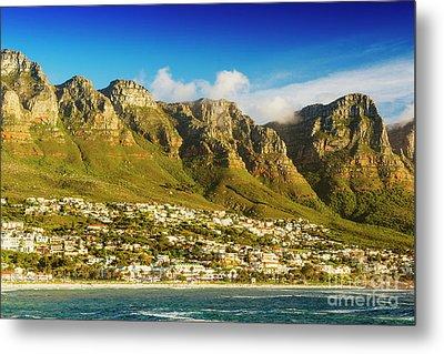 Twelve Apostles In South Africa Metal Print by Tim Hester