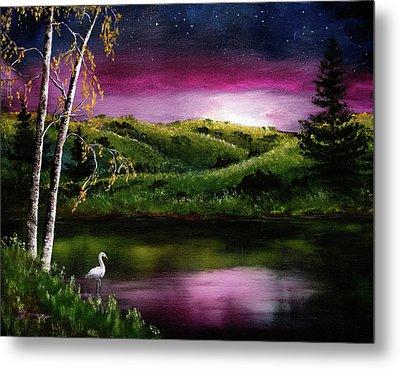Twilight At Vasona Lake Metal Print