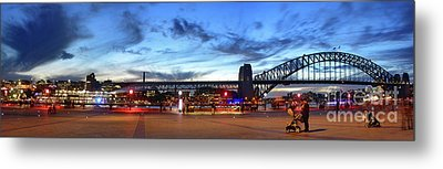 Metal Print featuring the photograph Twilight By The Bridge By Kaye Menner by Kaye Menner