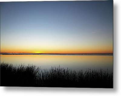 Twilight Stillness Down By The Beach Lagoon Metal Print