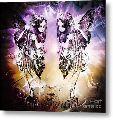 Twin Fairies 2 Metal Print