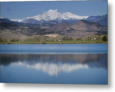 Twin Peaks Mccall Reservoir Reflection Metal Print