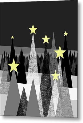 Twinkle Night Metal Print by Val Arie