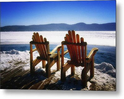 Two Adirondack Chairs  Metal Print