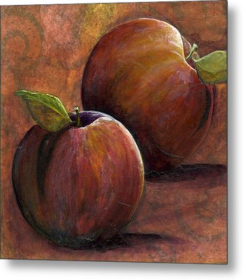 Two Apples Metal Print by Sandy Clift