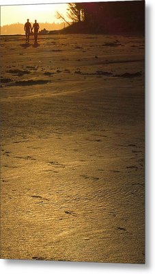 Metal Print featuring the photograph Two At Sunset by Mark Alan Perry