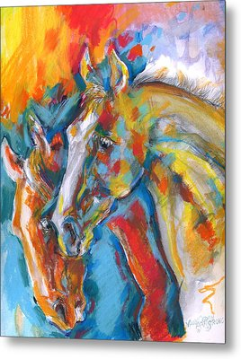 Two Beauties Metal Print by Mary Armstrong