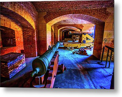 Two Cannons Metal Print by Garry Gay