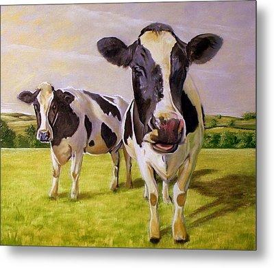 Two Cows Metal Print