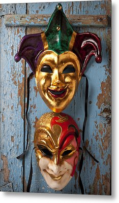 Two Decortive Masks Metal Print by Garry Gay