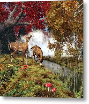 Two Deers Metal Print