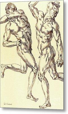 Two Male Nude Studies Metal Print