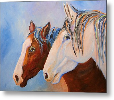 Two Mustangs Metal Print