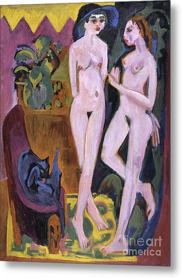 Two Nudes In A Room, 1914 Metal Print