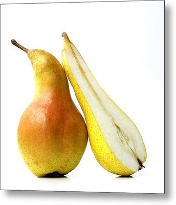 Two Pears Metal Print by Bernard Jaubert