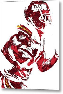 Tyreek Hill Kansas City Chiefs Pixel Art 1 Metal Print