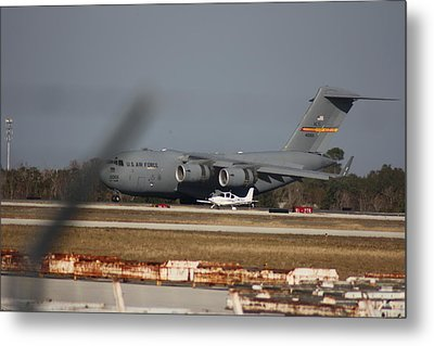 Metal Print featuring the photograph U S Airforce Plane by Michael Albright