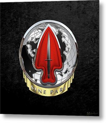 U. S.  Army Special Operations Command  -  U S A S O C    D U I Over Black Velvet Metal Print by Serge Averbukh