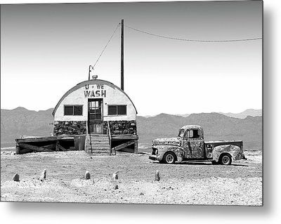Metal Print featuring the photograph U - We Wash - Death Valley by Mike McGlothlen