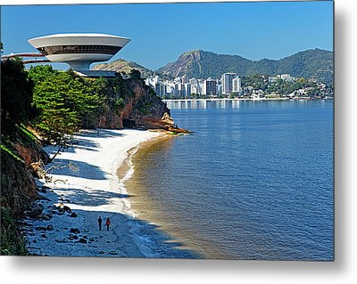 Ufo On The Cliff Metal Print by George Oze