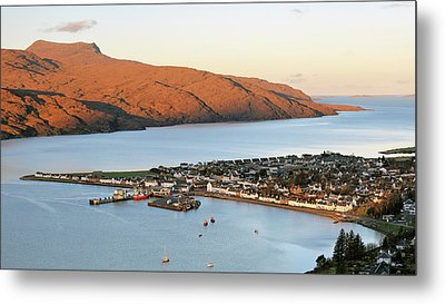 Metal Print featuring the photograph Ullapool Morning Light by Grant Glendinning