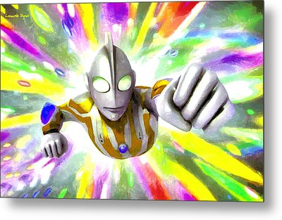 Ultraman - Da Metal Print