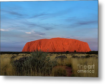 Metal Print featuring the photograph Uluru Sunset 03 by Werner Padarin