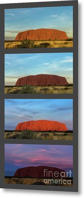 Metal Print featuring the photograph Uluru Sunset by Werner Padarin